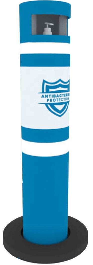 Distributeur de produits de désinfection Anti-covid pour ZONES SPORTIVES et LUDIQUES
